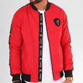 /achat-vestes/classic-series-veste-zippee-a-bandes-k-7438-rouge-noir-200949.html