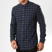 /achat-chemises-manches-longues/only-and-sons-chemise-manches-longues-a-carreaux-gudmund-bleu-marine-noir-201024.html