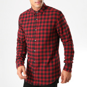 /achat-chemises-manches-longues/only-and-sons-chemise-manches-longues-a-carreaux-gudmund-rouge-noir-201025.html