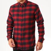 /achat-chemises-manches-longues/selected-chemise-manches-longues-a-carreaux-slim-seamus-rouge-bleu-marine-200980.html