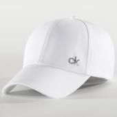 /achat-casquettes-de-baseball/calvin-klein-casquette-side-logo-5182-blanc-201202.html