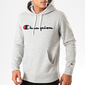 /achat-sweats-capuche/champion-sweat-capuche-script-logo-213498-gris-chine-201238.html