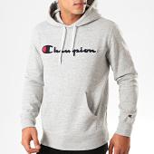 /achat-sweats-capuche/champion-sweat-capuche-script-logo-213498-gris-chine-201238.html