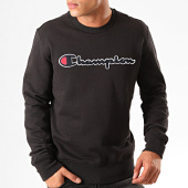 /achat-sweats-col-rond-crewneck/champion-sweat-crewneck-script-logo-recycled-terry-213511-noir-201245.html