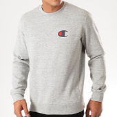 /achat-sweats-col-rond-crewneck/champion-sweat-crewneck-suede-c-logo-terry-213513-gris-chine-201247.html