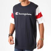 /achat-t-shirts/champion-tee-shirt-colour-block-script-logo-231644-bleu-marine-blanc-201258.html