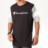 /achat-t-shirts/champion-tee-shirt-colour-block-script-logo-231644-noir-gris-chine-201259.html