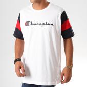 /achat-t-shirts/champion-tee-shirt-colour-block-script-logo-231644-blanc-bleu-marine-201260.html