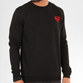 /achat-sweats-col-rond-crewneck/superman-sweat-crewneck-back-logo-feutrine-noir-rouge-201187.html