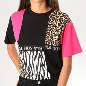/achat-t-shirts/fila-tee-shirt-femme-leopard-palila-687361-noir-rose-jaune-201363.html