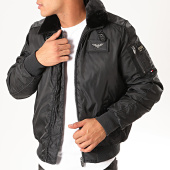 /achat-bombers/redskins-bomber-col-fourrure-hurrican-fighter-noir-201341.html