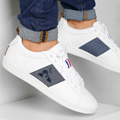 /achat-baskets-basses/le-coq-sportif-baskets-courtstar-craft-strap-denim-1921885-optical-white-dress-blue-201426.html