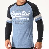 /achat-t-shirts-manches-longues/superdry-tee-shirt-manches-longues-colour-raglan-m6000022a-bleu-clair-chine-bleu-marine-201398.html