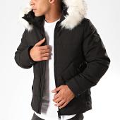 /achat-vestes/classic-series-veste-zippee-capuche-fourrure-d9206-noir-201547.html