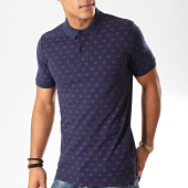 /achat-polos-manches-courtes/calvin-klein-polo-manches-courtes-all-over-printed-3731-bleu-marine-rouge-201928.html