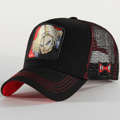 /achat-trucker/dragon-ball-z-casquette-trucker-c-18-noir-rouge-201733.html