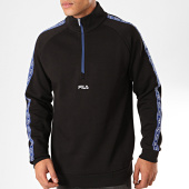 /achat-sweats-col-zippe/fila-sweat-col-zippe-a-bandes-udell-687356-noir-201731.html