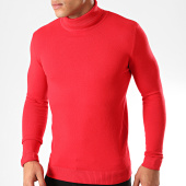 /achat-pulls/john-h-pull-col-roule-zw001-rouge-201829.html