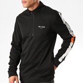 /achat-vestes/only-and-sons-sweat-col-zippe-a-bandes-tracker-poly-noir-blanc-orange-201857.html