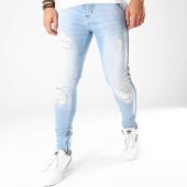 /achat-jeans/siksilk-jean-skinny-a-bandes-15288-bleu-denim-201959.html