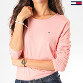 /achat-t-shirts-manches-longues/tommy-jeans-tee-shirt-femme-manches-longues-soft-jersey-6900-rose-201749.html