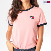 /achat-t-shirts/tommy-jeans-tee-shirt-femme-badge-ringer-7226-rose-201757.html