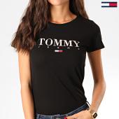 /achat-t-shirts/tommy-jeans-tee-shirt-femme-essential-slim-logo-7524-noir-201761.html