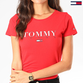 /achat-t-shirts/tommy-jeans-tee-shirt-femme-essential-slim-logo-7524-rouge-201763.html