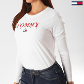 /achat-t-shirts-manches-longues/tommy-jeans-tee-shirt-femme-manches-longues-essential-logo-7525-blanc-201767.html