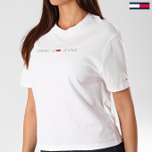 /achat-t-shirts/tommy-jeans-tee-shirt-femme-linear-logo-detail-7530-blanc-argente-201772.html