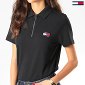 /achat-polos-manches-courtes/tommy-jeans-polo-femme-manches-courtes-badge-7642-bleu-marine-201782.html