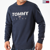 /achat-sweats-col-rond-crewneck/tommy-jeans-sweat-crewneck-novel-logo-7614-bleu-marine-201952.html