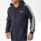 /achat-sweats-zippes-capuche/adidas-sweat-zippe-capuche-a-bandes-essentials-du0475-bleu-marine-blanc-202065.html