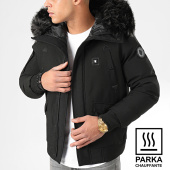 /achat-parkas/comme-des-loups-parka-chauffante-fourrure-chicago-noir-201966.html