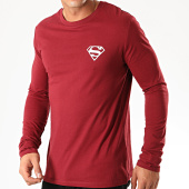 /achat-t-shirts-manches-longues/superman-tee-shirt-manches-longues-logo-recto-verso-bordeaux-202026.html