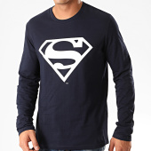 /achat-t-shirts-manches-longues/superman-tee-shirt-manches-longues-big-logo-bleu-marine-202028.html