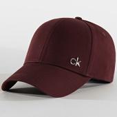 /achat-casquettes-de-baseball/calvin-klein-casquette-side-logo-5182-bordeaux-202331.html
