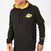 /achat-sweats-capuche/new-era-sweat-capuche-nba-stripe-piping-los-angeles-lakers-noir-jaune-202260.html