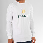 /achat-t-shirts-manches-longues/tealer-tee-shirt-manches-longues-time-is-money-blanc-vert-dore-202317.html