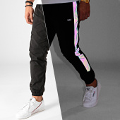 /achat-pantalons-joggings/tealer-pantalon-jogging-iridescent-reflechissant-a-bandes-city-rainbow-noir-202323.html