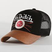 /achat-trucker/von-dutch-casquette-pinstripe-noir-marron-202380.html