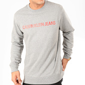 /achat-sweats-col-rond-crewneck/calvin-klein-sweat-crewneck-institutional-logo-7758-gris-chine-202387.html