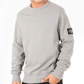 /achat-sweats-col-rond-crewneck/calvin-klein-sweat-crewneck-monogram-sleeve-badge-4035-gris-chine-202389.html