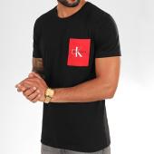 /achat-t-shirts-poche/calvin-klein-tee-shirt-poche-monogram-4070-noir-rouge-202396.html