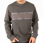 /achat-sweats-col-rond-crewneck/calvin-klein-sweat-crewneck-institutional-tape-mix-media-4131-gris-anthracite-202399.html