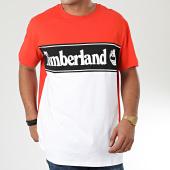 /achat-t-shirts/timberland-tee-shirt-cut-and-sew-lin-logo-a1oa-orange-blanc-noir-202475.html