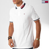 /achat-polos-manches-courtes/tommy-jeans-polo-manches-courtes-branded-collar-7451-blanc-bleu-marine-rouge-202426.html