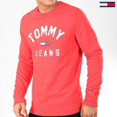 /achat-sweats-col-rond-crewneck/tommy-jeans-sweat-crewneck-essential-flag-7024-rouge-202466.html