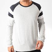 /achat-t-shirts-manches-longues/celio-tee-shirt-manches-longues-varsity-gris-chine-bleu-marine-blanc-202560.html