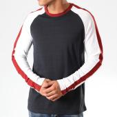 /achat-t-shirts-manches-longues/celio-tee-shirt-manches-longues-tricolore-a-bandes-varsity-bleu-marine-blanc-bordeaux-202561.html